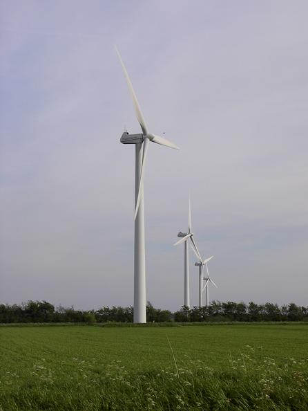 Part of 11 MW wind park with 750 kW turbines